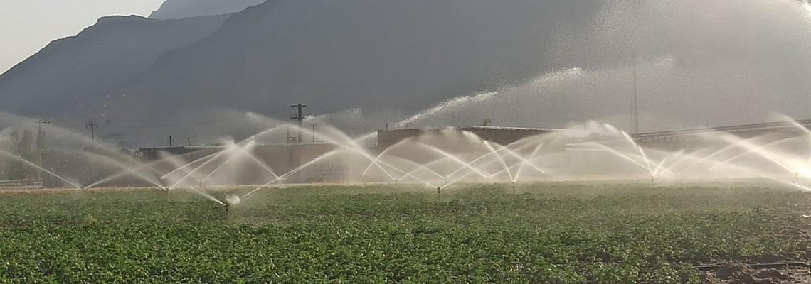 اجرای سیستم نوین آبیاری در دشت شبانکاره